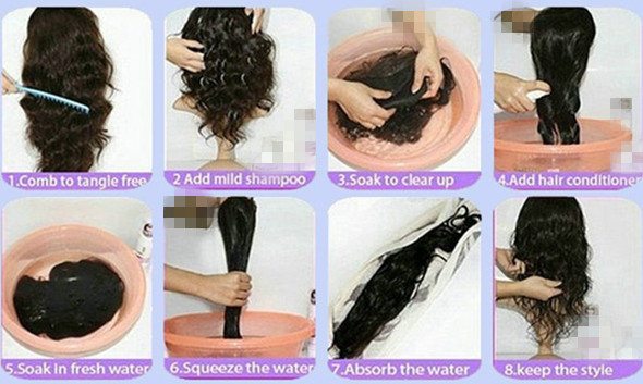 Hair extensions care and styling types of hair extensions hair extensions washing tips pmusecretfo Choice Image