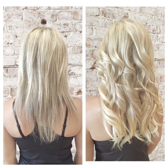 Micro bead types of hair extensions types of hair extensions hair extensions are for you micro beads before and after pmusecretfo Choice Image