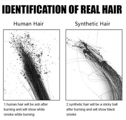 Identification of real hair