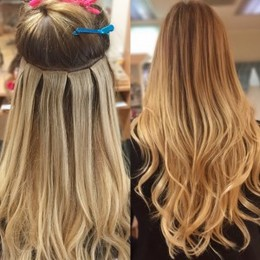 Tape extensions thin hair